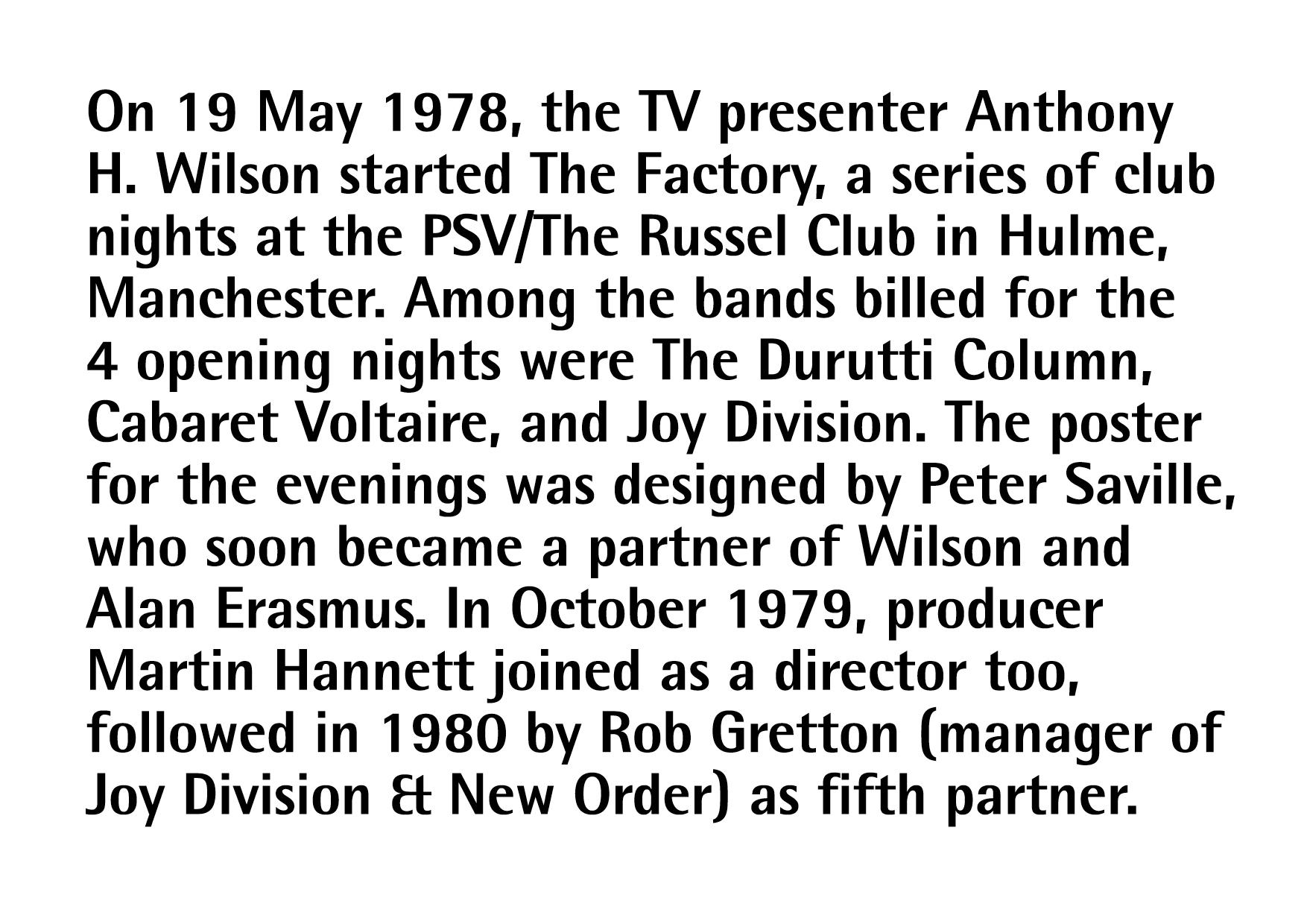 Rebranding Factory Records