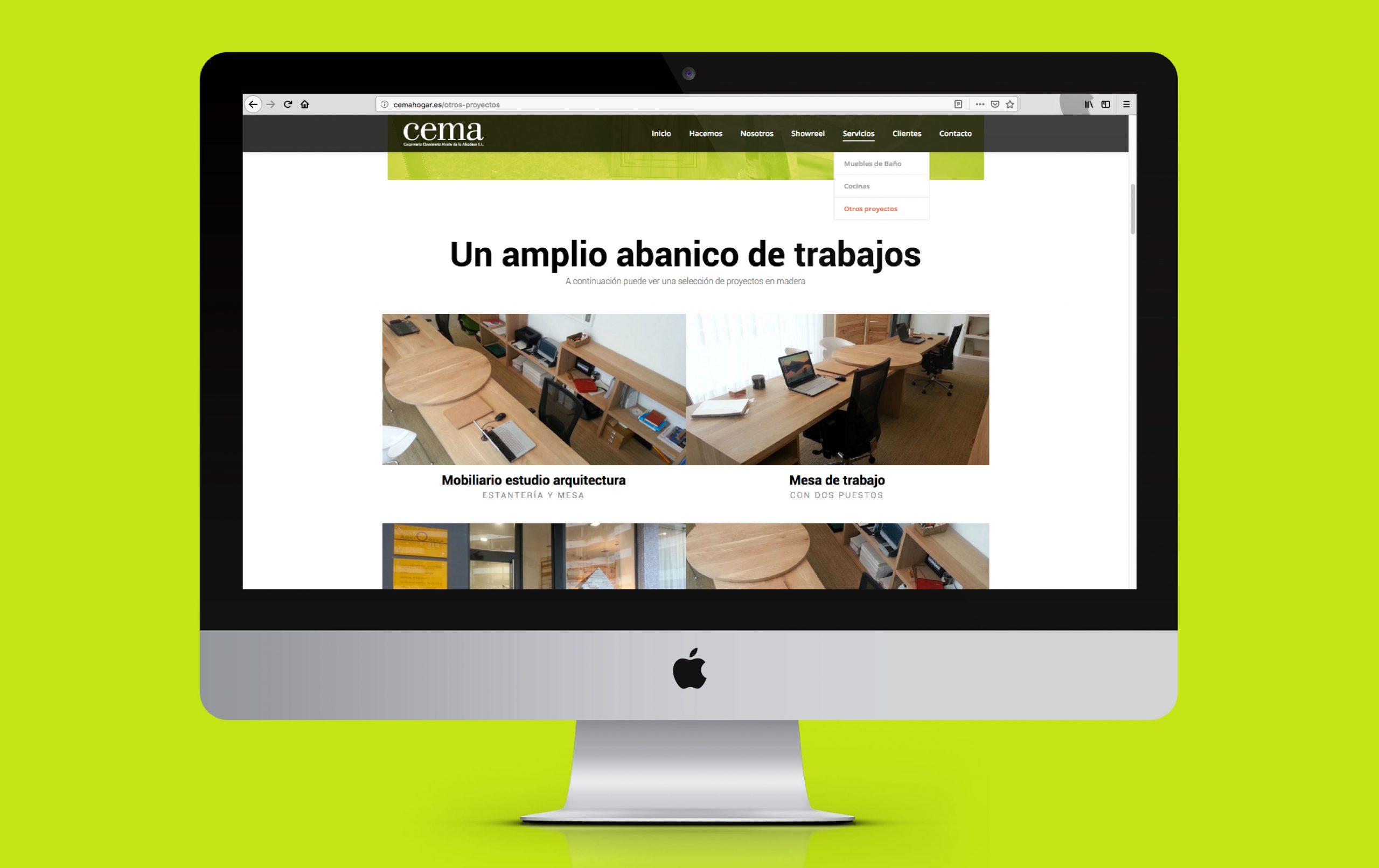 Rediseño web Cema S.L.